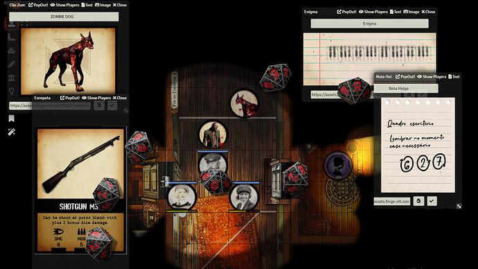 Screenshoot Foundry 3 - Grimório do mestre